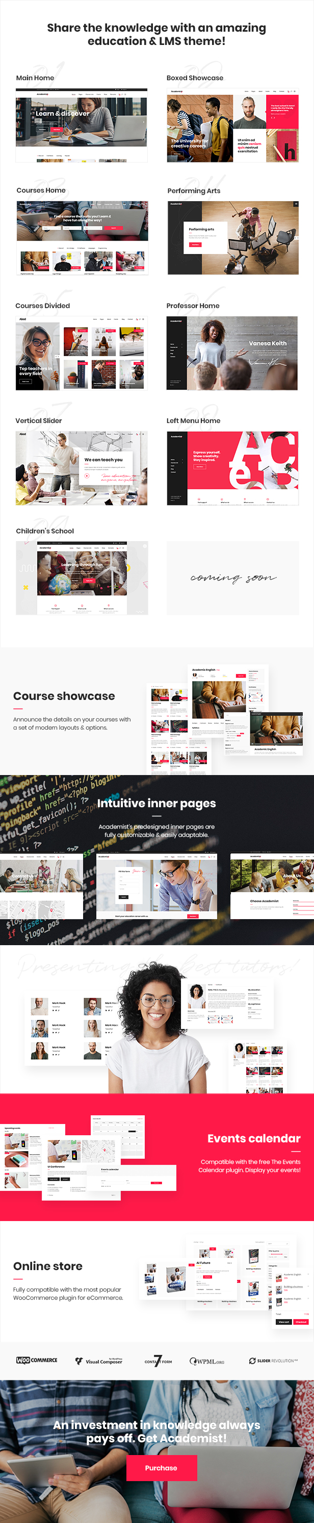 WordPress theme Academist - A Modern Learning Management System and Education Theme (Education)